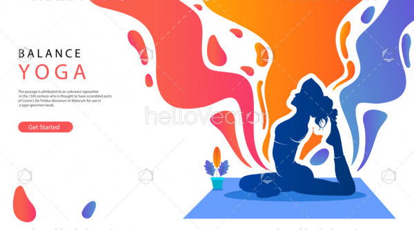 Young woman doing yoga,  Health and fitness concept
