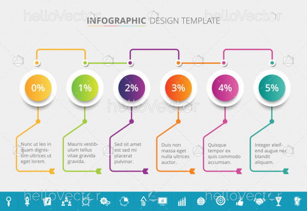 Supply Chain Infographic Template Design - Vector Illustration