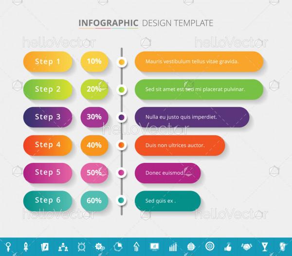 Timeline infographic template design - Vector Illustration