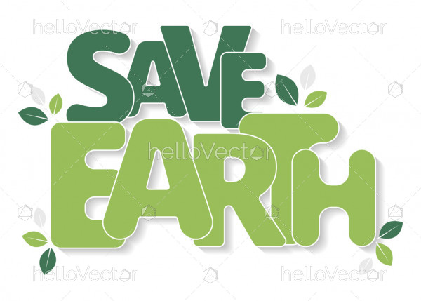 Save Earth Typography
