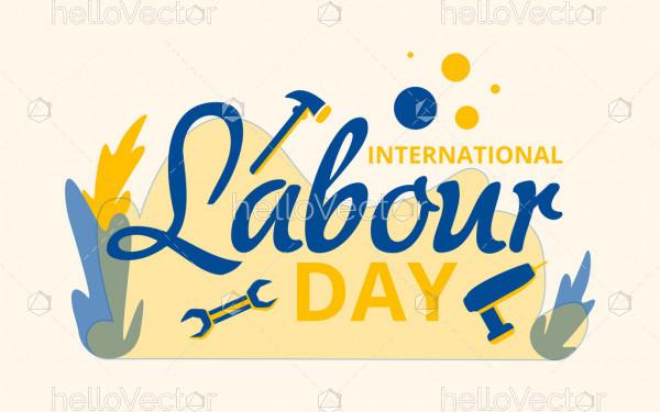 International labour day poster - Vector Illustration