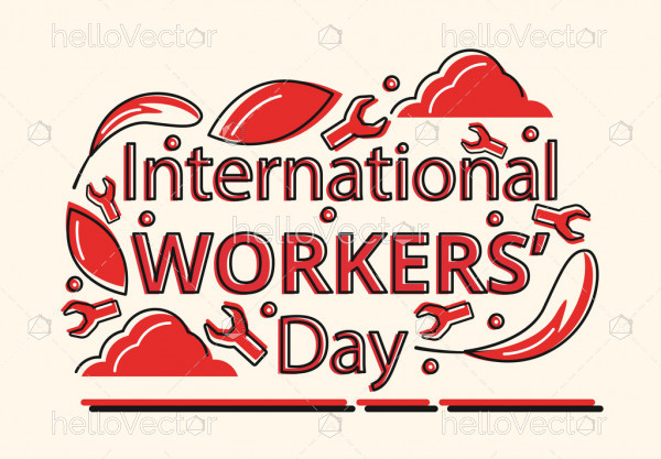International Workers' Day - Vector Illustration