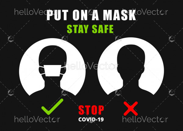 Please use face mask signage - Stop Covid-19