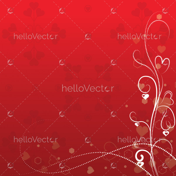 Valentine's day background with hearts - Vector illustration