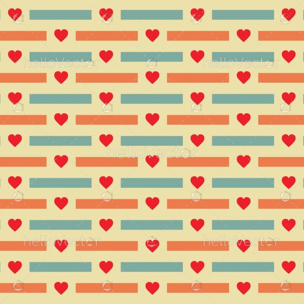 Heart shape pattern background - Vector illustration