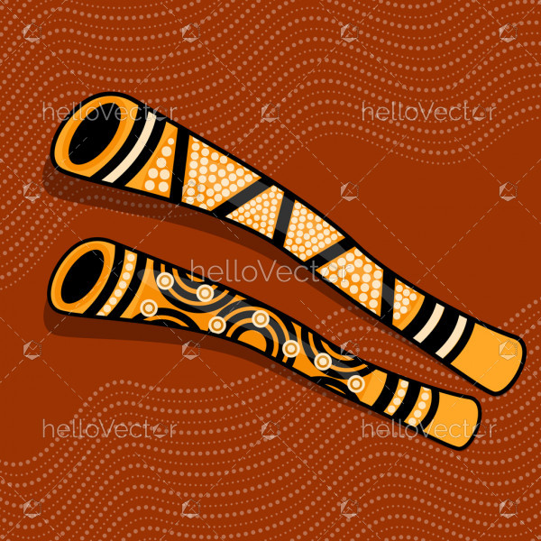 Aboriginal Didgeridoo Art Background