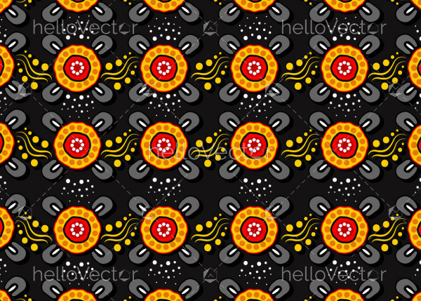 Aboriginal dot art seamless pattern background