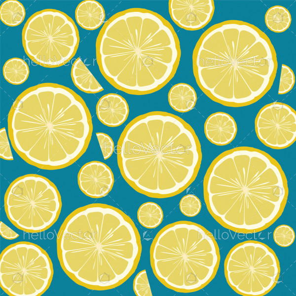 Seamless lemon and orange pattern background - Vector illustration