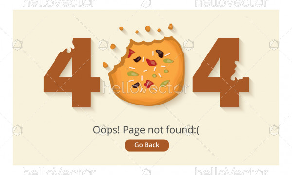 Error 404 landing page template