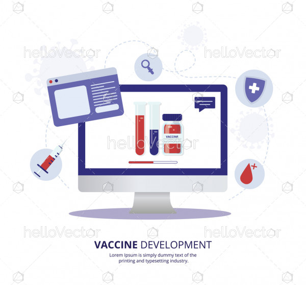 Vaccine development for covid 19 illustration