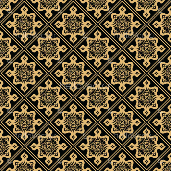 Modern stylish texture background. Seamless pattern - Vector illustration