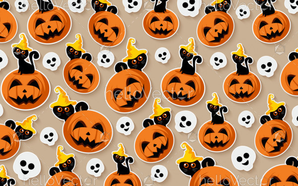 Halloween seamless vector background