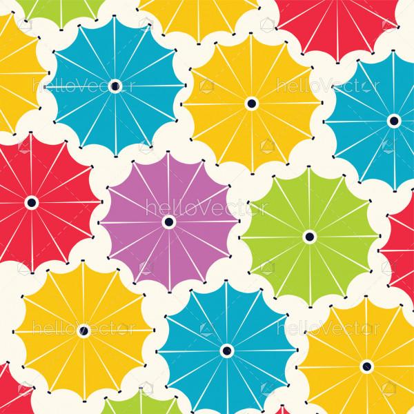 Umbrella pattern - Vector background