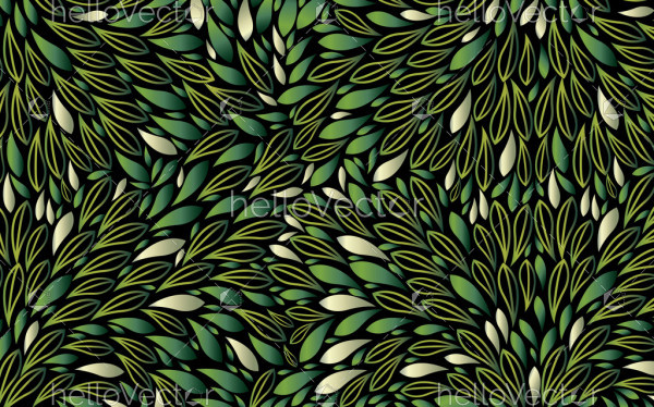 Green bush leaves seamless background