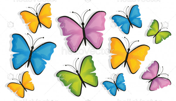 Seamless butterfly background vector
