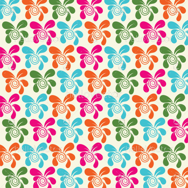 Seamless flower pattern background - Vector illustration
