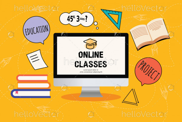E-learning concept banner