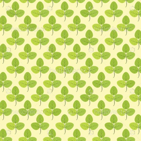 Seamless Pattern Of Leaf Background - Vector Illustration