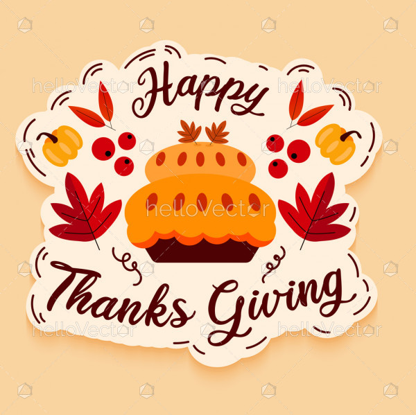Thanksgiving greeting design