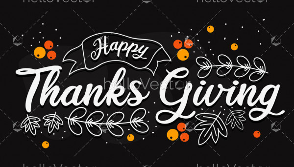 Happy Thanksgiving Day typography for greeting cards and poster