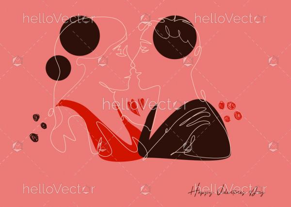Romantic couple, valentine's day background