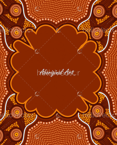 Banner template with aboriginal artwork.