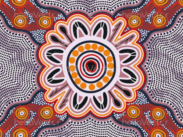 Aboriginal dot vector background