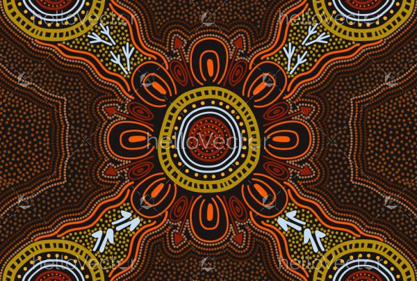 Aboriginal dot art painting