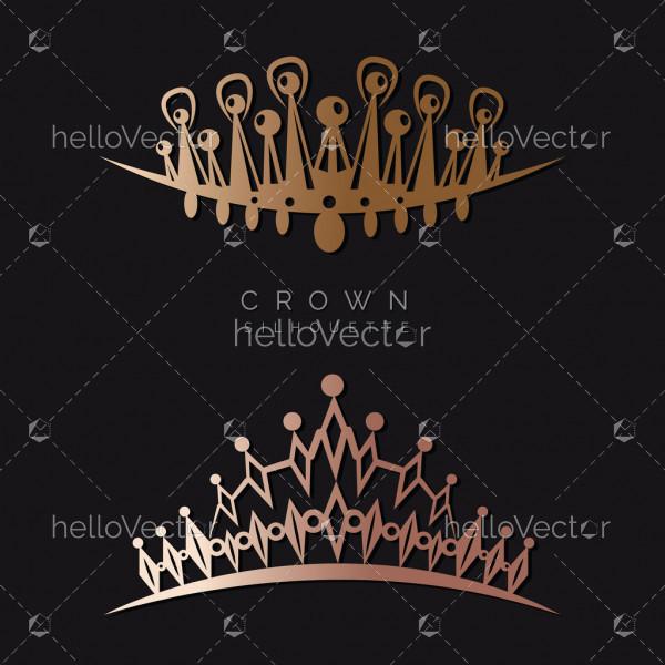 King or queen golden crowns