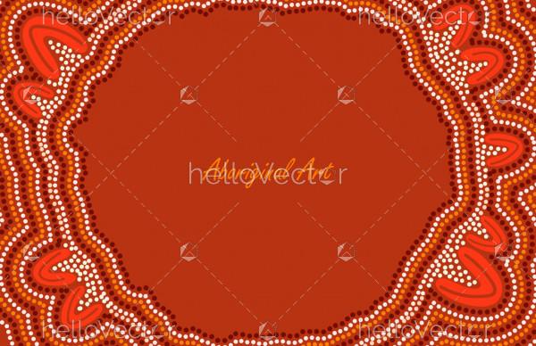 Aboriginal dot art banner design