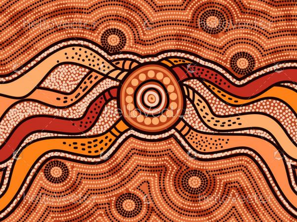 Connection background - Aboriginal artwork