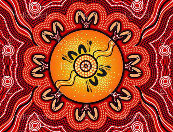Australian dot vector painting