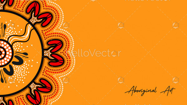 Aboriginal work on yellow poster background