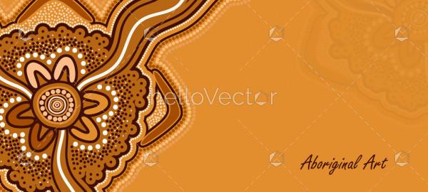 Aboriginal art poster design
