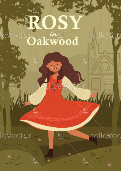 Story Book Cover Template