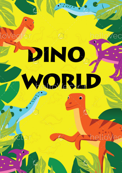 Dino world - children's stories book cover design