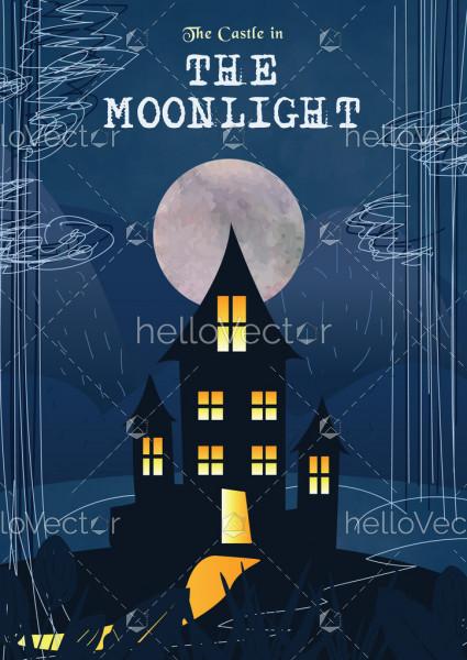 Horror Book Cover Design Illustration