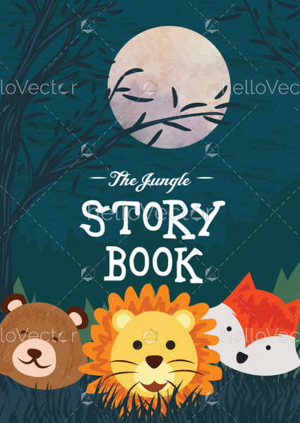 Children's stories book cover template