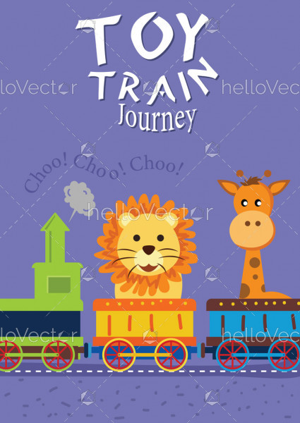 Toy Train Journey - Kids Book Cover Design
