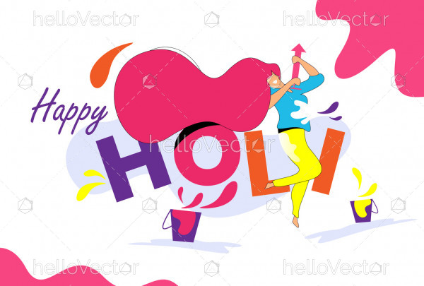 Happy Holi Abstract Modern Background