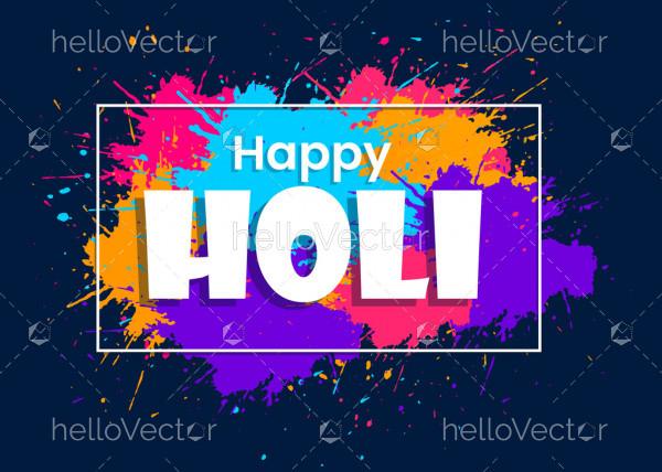 Happy holi festival background