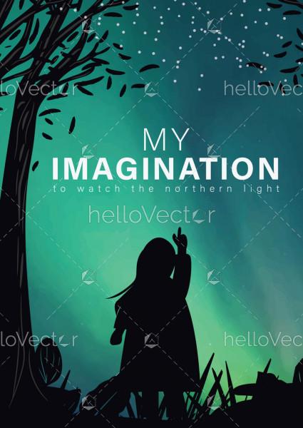 Dream Book Cover Design - Vector