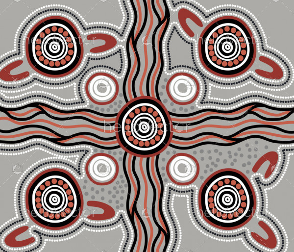 Aboriginal style vector background