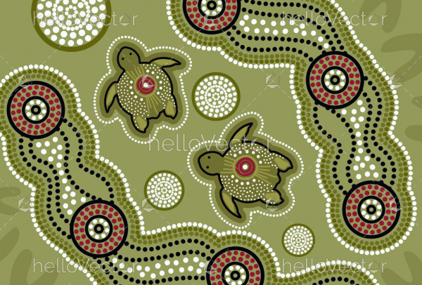 Aboriginal turtle vector art