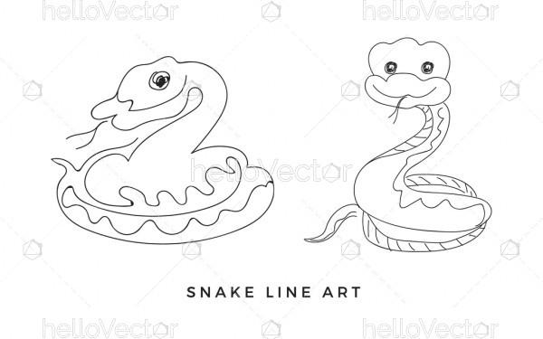 Cartoon snake outline