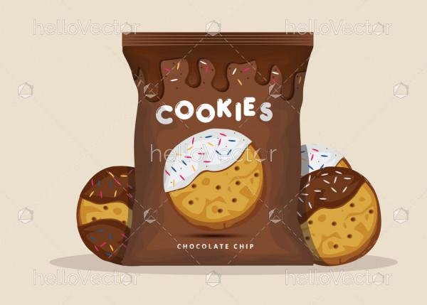 Chocolate cookies packaging design