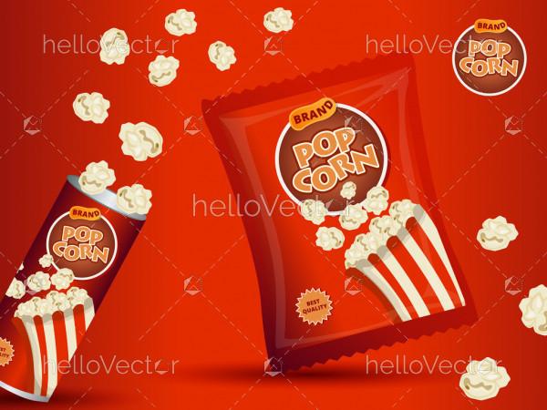 Popcorn Packaging Template