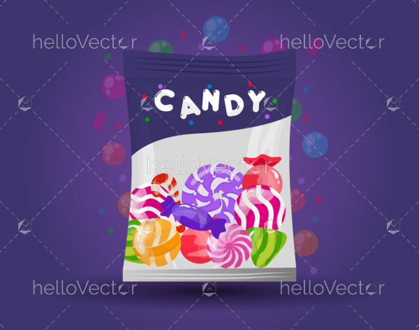 Candy Packaging- Vector Illustration
