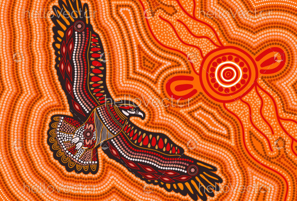 Eagle aboriginal art
