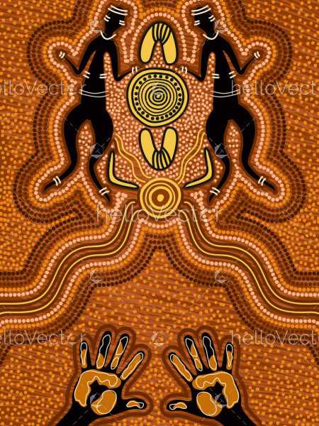 Aboriginal style of dot painting